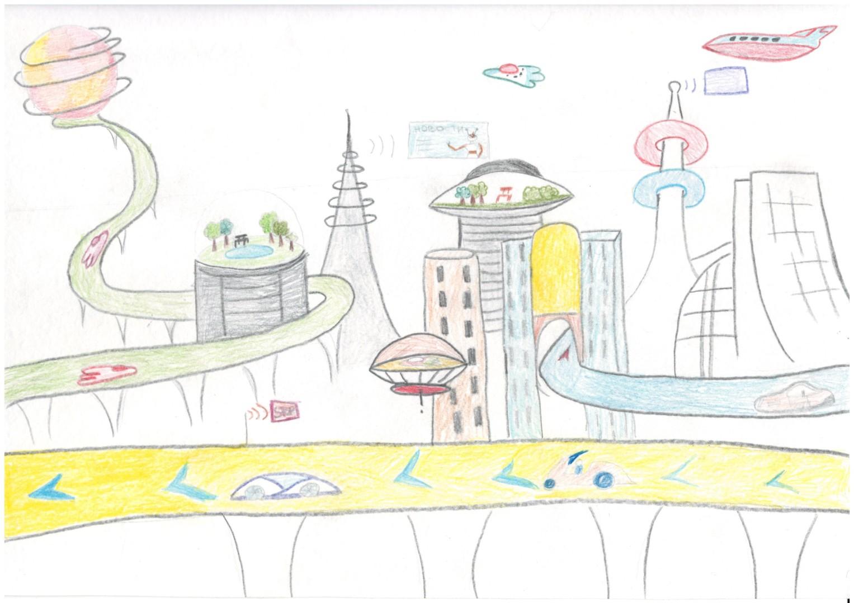 качество рисунок город мечты карандашом рыжие волосы